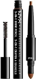 NYX Professional Makeup 3 In 1 Brow Pencil, Auburn