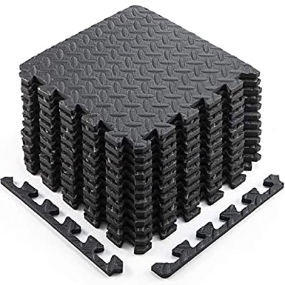 Sportneer Puzzle Exercise Mat with EVA Foam Interlocking Tiles for MMA, Exercise, Gymnastics and Home Gym Protective Flooring,Cushion for Workouts,Kids - Pack of 12, 11.8 x 11.8 x 0.47 Inches