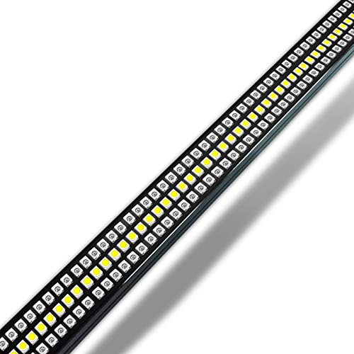 OPT7 60' Redline Triple LED Tailgate Light Bar w/Sequential RED Turn Signal - 1,200 LED Solid Beam - Weatherproof No Drill Install - Full Function Reverse Brake Running
