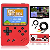 Jueapu Handheld Game Console, 500 Classic FC Games, Mini Handheld Game Console with 3.0-Inches Color Screen , 1020mAh Rechargeable Battery That Can Connect to TV and Two Players