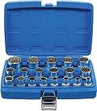 BGS 2152 | Juego de llaves de vaso Gear Lock | entrada 12,5 mm (1/2') | 19 piezas
