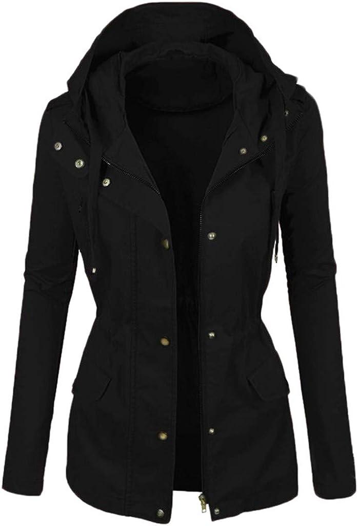 Lutos 2021 autumn and winter new Women 55% OFF Slim Motorcycle Coat Color Button Plain Zipper Parka