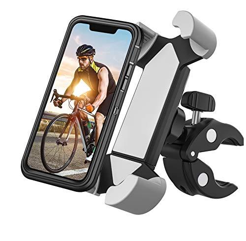 HS-ZGC Soporte para teléfono móvil para Motocicleta, Soporte para teléfono móvil para Bicicleta de montaña Giratorio de 360 °, Compatible con iPhone 11 Pro MAX/XS MAX/XR, el tamaño es de 4.5-7in