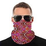 Pañuelo para la cabeza con variedad de pigmentos vintage de teñido anudado colorido, cubierta facial más cálida, polaina de cuello súper suave y elástica.