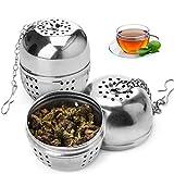 TOCYORIC Infusor de Te Filtros Huevo para té Filtros Balón de té Infuser Colador de té Filtro de té, Acero Inoxidable, 2 pieza