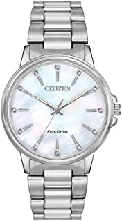 Citizen Women's Solar Powered Wrist watch, stainless steel Bracelet analog Display and Stainless Steel Strap, FE7030-57D