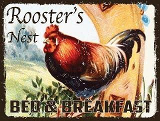 Gallos juego de mesas nido para cama y Metal Sign para desayuno cookware company adecuado para evitar del para 4 años