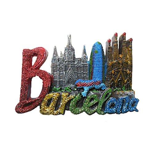 Imán de nevera 3D con letras de España de Barcelona, recuerdo para decoración del hogar y la cocina, imán de nevera de Barcelona