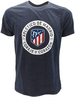 Rogers & JLK Atletico De Madrid T-Shirt Camiseta Coraje y Corazon Azyul Navy Logo Armas Ufficiale La Liga
