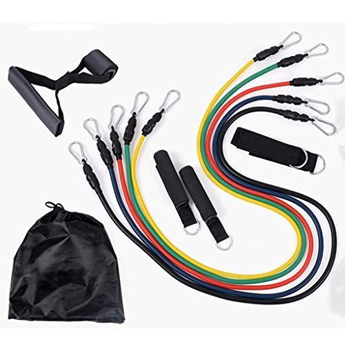 YLJYJ Resistance Band Set, 100-pound Rubber 13-piece Set, Elastic Rope Band 5 Fitness Tubes/handle/ankle Strap/door Anchor/storage Bag/chest Expander