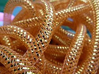 Lace Fabric African | 8Mm Shimmer Nylon Tubular Crinoline CRIN Crinoline Cyberlox Stretch Tubing for Hair Accessories 30Yard/Lot | by DOBTSore
