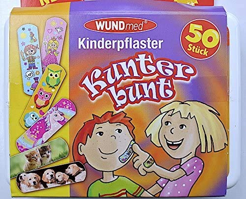 WUNDmed® Kinderpflaster Kunter bunt Box 50tlg.
