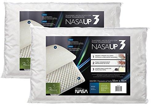 Kit 2 peças Travesseiro Nasa Up 3, para fronhas 50x70 cm, Fibrasca