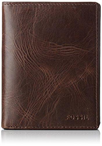 Fossil Herren Derrick Geldbörse, Braun (Dark Brown), 2.5x12.7x7.6 cm
