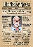 Geburtstagszeitung von 1951 - personalisiert mit Deinem Text & Foto | 70. Geburtstag
