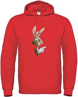 Sudadera con capucha con diseño de conejos de Pascua, dibujos animados, dedos de conejo, sudadera unisex para niños y niñas