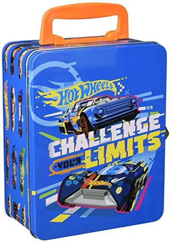 Theo Klein 2883 Hot Wheels Sammelkoffer, Spielzeugkoffer aus Metall für bis zu 18 Autos, 21 x 15,5 x 8,5 cm, Spielzeug ab 3 Jahre