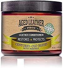 Aged Leather Pros All-Natural Leather Conditioner Cream Best Organic Leather Care for New & Old Leather Jackets, Boots, Gloves, Any Genuine Leather | Made in USA, 6 oz