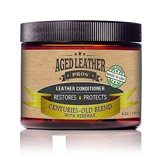 Aged Leather Pros All-Natural Leather Conditioner Cream Best Organic Leather Care for New & Old...