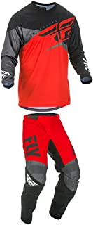 Fly Racing 2019 F-16 Jersey and Pants Combo Youth Red/Black/Gray Small,24