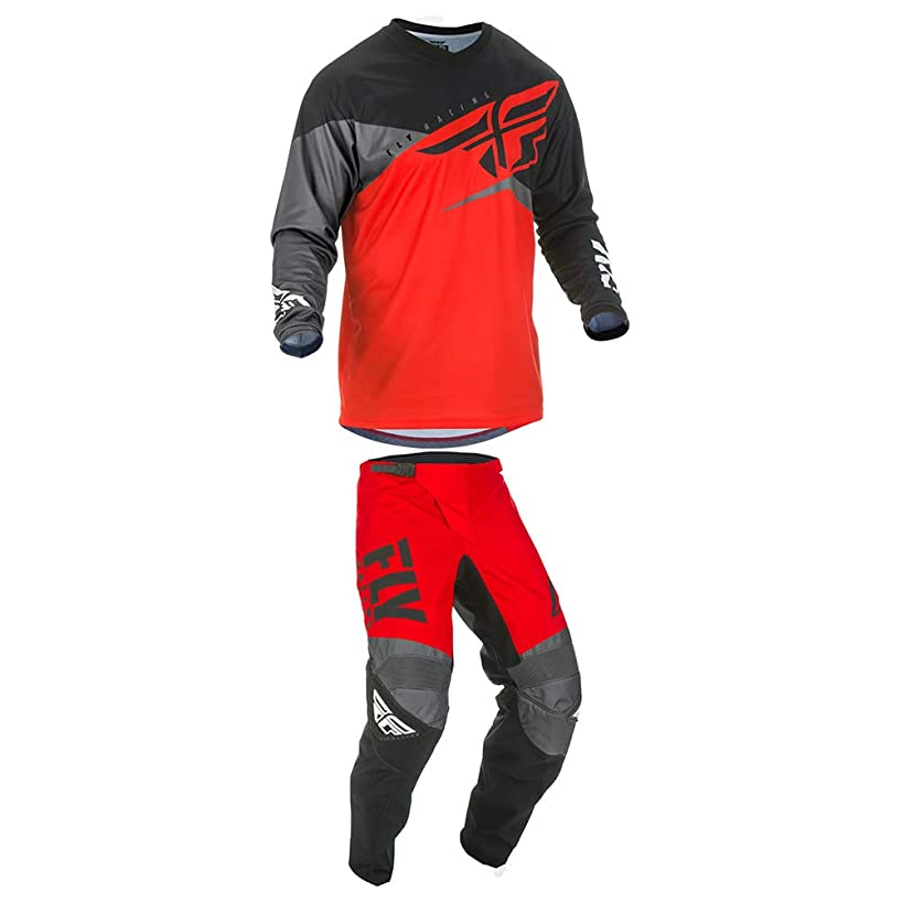 Fly Racing 2019 F-16 Jersey and Pants Combo Youth Red/Black/Gray Small,18