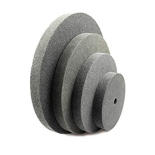 Juan-375 Herramienta abrasiva, muela 1 pieza 150/200/250/300 * 25 mm de grosor Rueda de pulido de fibra de nailon no tejida rueda unitizada 7P 180 para esculpir, ranurado y corte