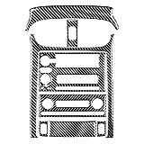 8pcs / set Genuine Real Carbon Fiber Console Panel de control de la cubierta Trim Pegatinas decorativas para C/HEV-ROLET C/ORV-ETTE C6 Interior del coche el (Color Name : BLACK)