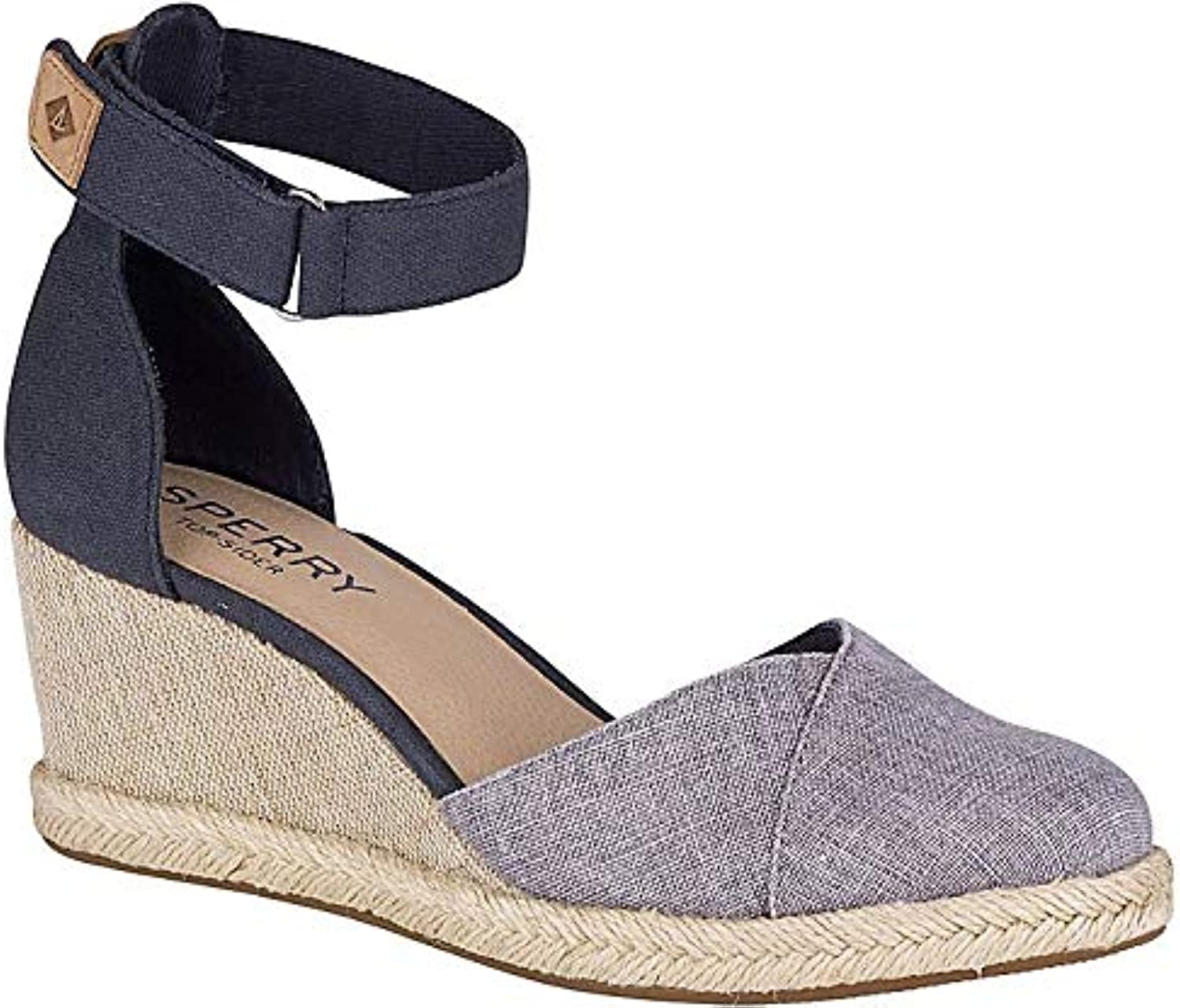 Sperry Women's Valencia Canvas gold Espadrille Wedge