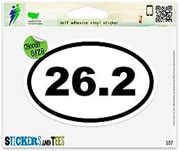 26.2 Oval Marathon Run Vinyl Car Bumper Window Sticker 3