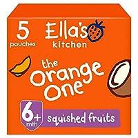 [Ella's Kitchen ] エラのキッチン有機スムージー果物のオレンジ1 5×90グラム - Ella's Kitchen Organic Smoothie Fruits The Orange One 5 x 90g [並行輸入品]