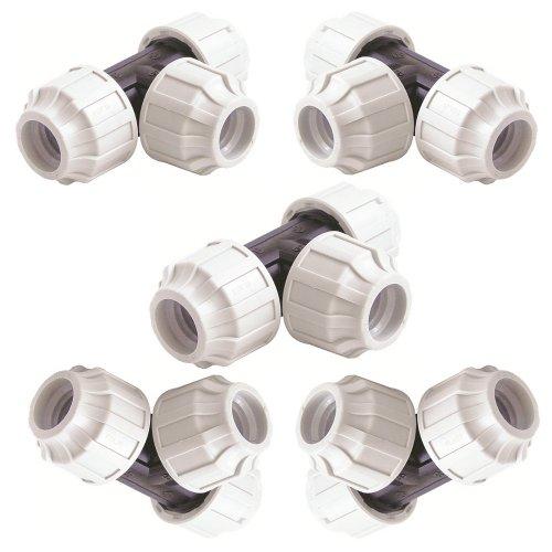 STP fittings PP Kupplung T-Stücke Set, für 20 mm PE-Rohr