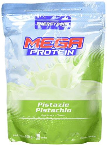 Energybody Mega Protein, Pistazie, 1er Pack (1 x 500 g Beutel)