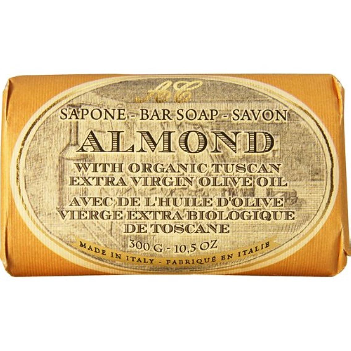 ソーシャル偽造投獄Saponerire Fissi レトロシリーズ Bar Soap バーソープ 300g Almond アーモンドオイル