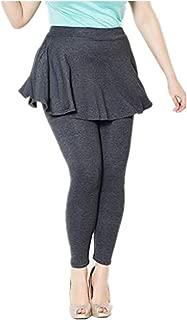 Women's Mini Skirt with Leggings Yoga Pants with Skirt 2 in 1 Sportswear Casual Yoga Skirt Soft Leggings Skirt