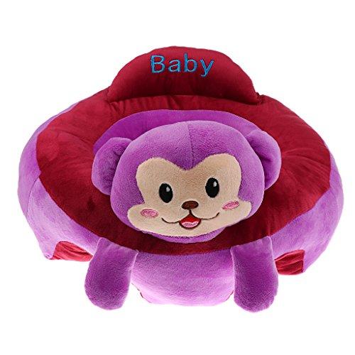 Toygogo Plüsch Sitzkissen Baby Kleinkind Sitzsack Kindersofa Kindercouch - lila