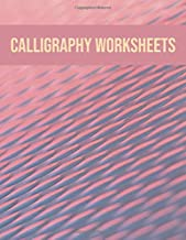 Calligraphy worksheets: Blank practice sheets book with slanted grid paper: Modern minimal cover design