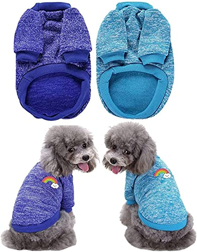 OWBB® 2 Stück Hundepullover Fleece Haustier Mantel für Welpen Kleine und mittelgroße Hunde