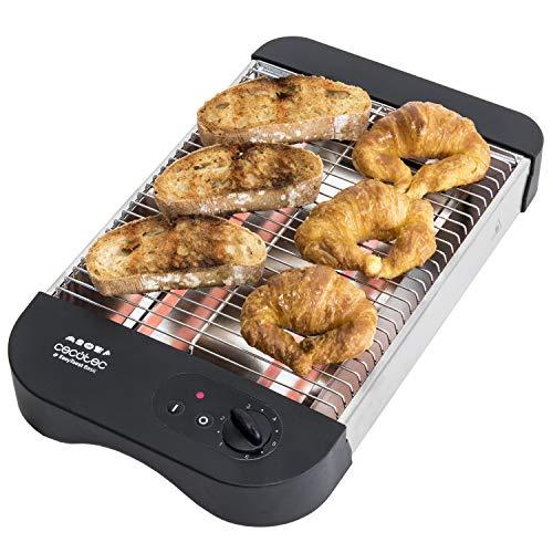 Cecotec Easy Toast Basic -  Tostador plano horizontal, 600 W, 6 niveles,...