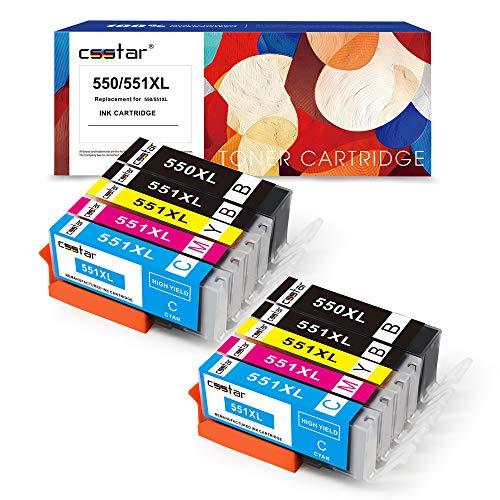 CSSTAR Compatible Cartuchos de Tinta Reemplazo para Canon PGI 550 CLI 551 XL para PIXMA...