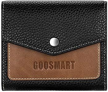 Hongloon Genuine Leather RFID Blocking Credit Card Wallet