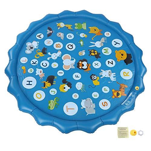 Atyhao Tragbare aufblasbare Wassermatte Runde Spielmatte Wasserkissen Aufblasbare Spielmatte für den Innenhof