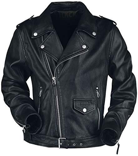 Black Premium by EMP The Road Crew Homme Veste en cuir noir XXL, 100% Cuir, Regular / Coupe standard