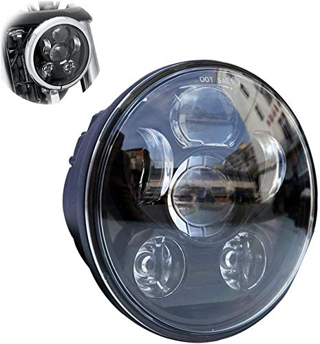 "Locisne 5-3 / 4 ""5.75"" Proyector redondo LED Proyector Daymaker para Harley Davidson Kickfaire Motocicleta Proyector Luces 45W 9 LED Bulb Iluminación Lámpara de aluminio"