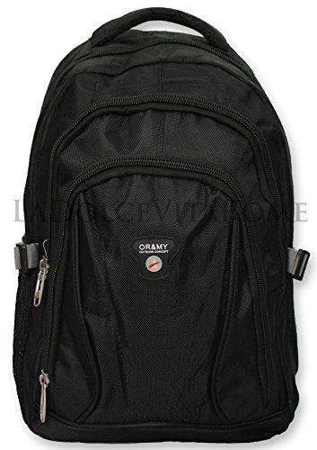Zaino Borsa da Viaggio Laptop Porta PC e Tempo Libero Sport Scuola Imbottito (8013 Nero)
