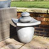 Peaktop VFD8402-UK Water Feature, Light Grey, 47x47x62