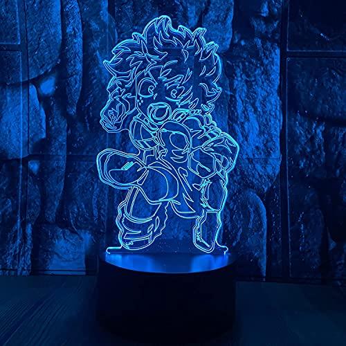 YANGE'S Lámpara de Ilusión 3D Brillo Regulable 16 Colores RGB Recargable USB Control Remoto y Control táctil LED Luz para Niños, Adultos, Dormitorio, Fiesta