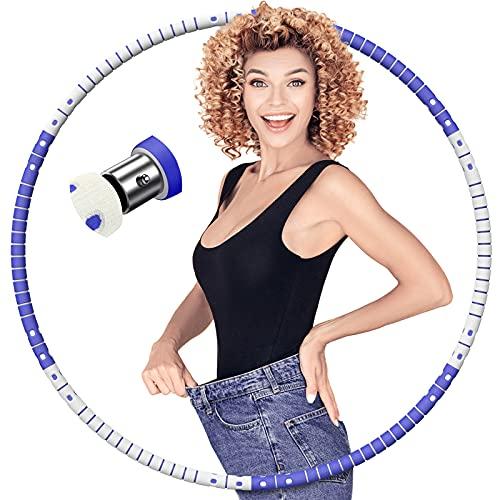 AOYATE Hula Hoop Reifen Erwachsene,Hoola Hoop Reifen für Erwachsene & Kinder zur Abnehmen/Bauchformung/Fitness, Hullahub Reifen mit Abnehmbar Edelstahlkern und Hochwertigen Gummischaum 1,2kg Gewicht
