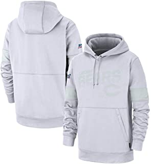 Fremont Die Men's Chicago Bears 100 2019 Sideline Platinum Therma Pullover Hoodie - White Men L