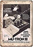 WallAdorn Mu-Tron III Synthesizer Larry Coryell - Poster da Parete in Metallo, Stile Vintage, per Bar, Pub, casa, 20 x 30 cm