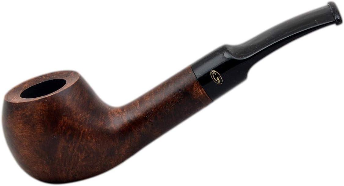 Gasparini Bristol Briar Apple Smooth Dark Brown Tobacco Smoking Pipe (Italy)